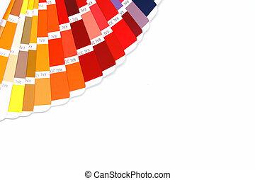färg, guide, copyspace