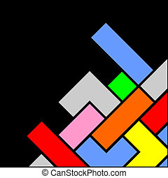 färg, hörna