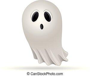färg, -, halloween, spöke, ikon