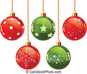 färg, jul, klumpa ihop sig