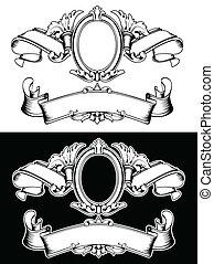 färg, kunglig krona, en, årgång, komposition