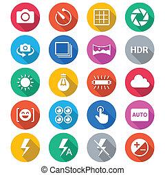 färg, lägenhet, fotografi, ikonen
