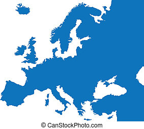 färg, land, europa, karta