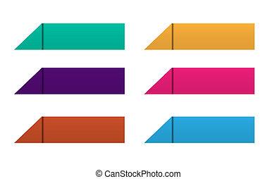 färg, origami, knapp, sätta