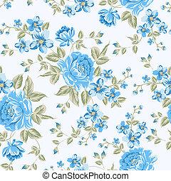 färg, pattern., pion, luxuös