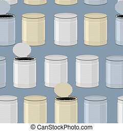 färg, pattern., seamless, bakgrund., konservburk, tincan