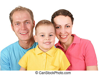 färg, pojke, familj