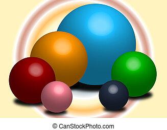färg, spheres