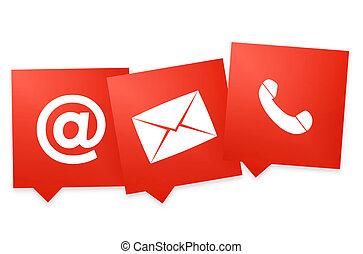 färg, symbol, oss, en, kontakta, design, ikon