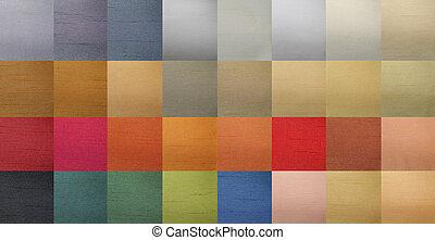 färg tablå, textilvaror