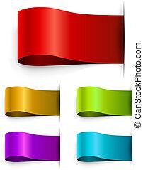 färg, tom, mall, märken
