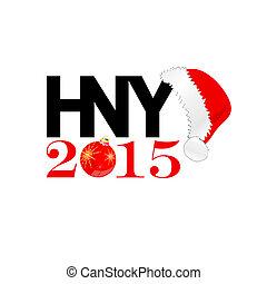 färg, vektor, år, färsk, hatt, jul, lycklig