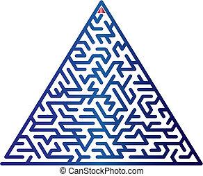 färg, vektor, maze., illustration.
