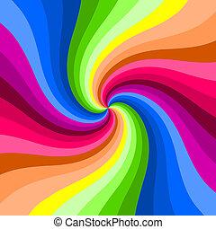 färg, virvla runt, hypnotisk, bakgrund.