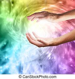 färga, helbrägdagörelse, energi