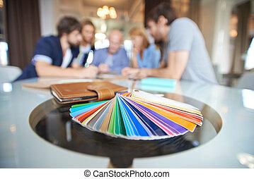 färga palett