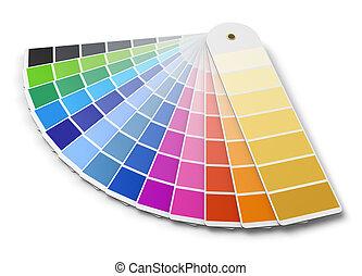 färga palett, guide, pantone