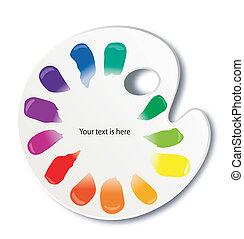 färga palett, vektor