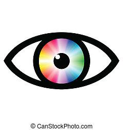 färga swatch, ögon