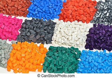 färgat, polymer, kåda, in, laboratorium