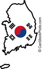 färger, södra korea