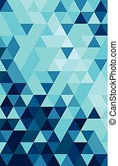 färgglatt, abstrakt, triangel