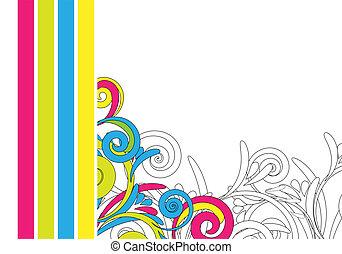 färgglatt, sammandrag formge, bakgrund