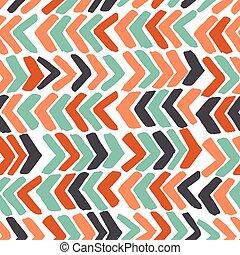 färgrik, abstrakt, hand, bakgrund., chevron., oavgjord