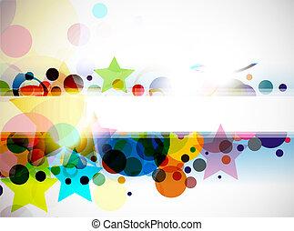 färgrik, bakgrund, abstrakt