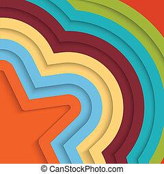 färgrik, bakgrund, med, stripes