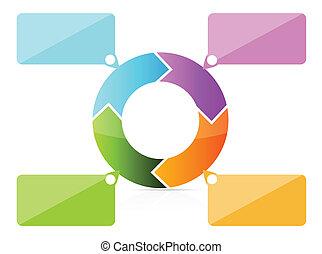 färgrik, förevisningar, meddelar