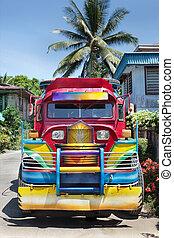färgrik, filippinare, jeepney