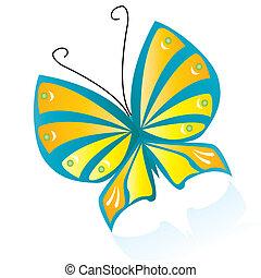 färgrik, fjäril