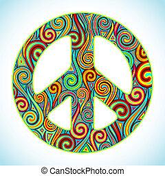 färgrik, fred