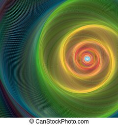 färgrik, glänsande, spiral, bakgrund