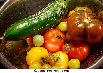 färgrik, höst, grönsaken