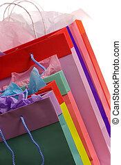 färgrik, handling väska, 2
