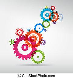 färgrik, kuggar, abstrakt, -, grå, vektor, utrustar, bakgrund