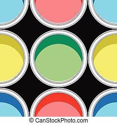 färgrik, mönster, seamless, måla, vektor, burkar, bakgrund