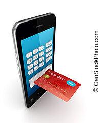 färgrik, mobil, kreditera, sammanhängande, ringa, Kort