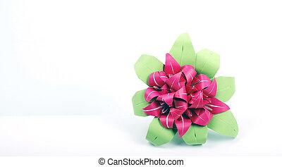 färgrik, origami, blomma