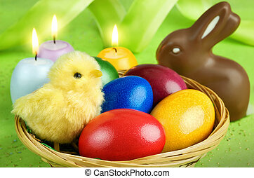 färgrik, påsk, ordning