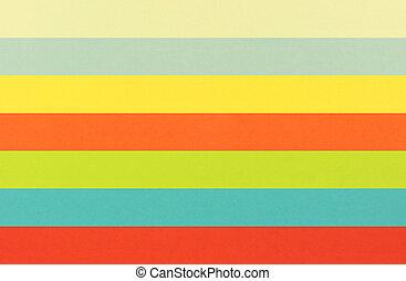 färgrik, papper, ark
