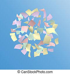 färgrik, papper