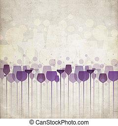 färgrik, parti, drycken