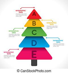 färgrik, träd, info-graphics