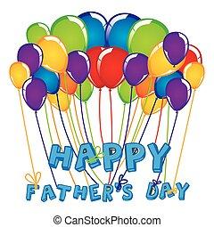 färgrik, uppe, pappa, nära, sväller, dag, firande