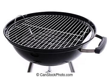 färsk, brännmärka, grill