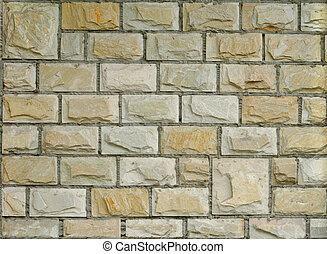 färsk, dekorativ, tegelsten vägg