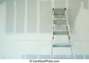 färsk, drywall, sheetrock